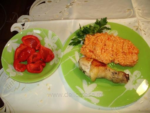 Pilaf roşu cu legume