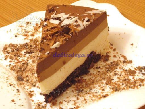 Tort 3 mousse de ciocolată