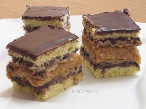 Prăjitură Raluca cu foi de napolitană