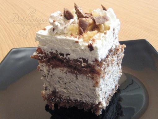 Prăjitură cu ciocolată şi nucă