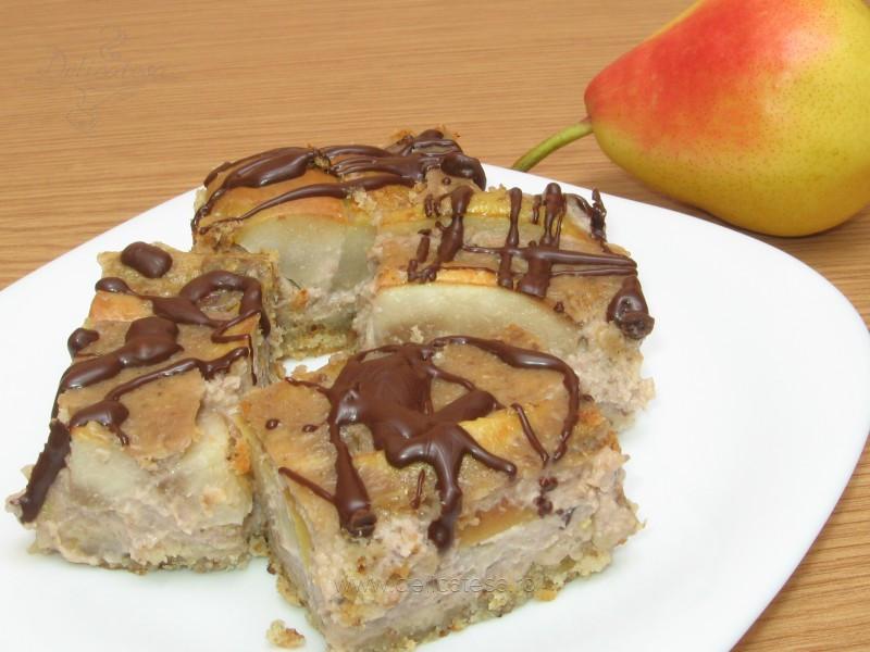 Prăjitură cu pere şi nucă