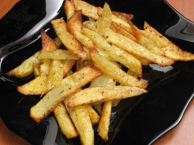 """Cartofi """"prăjiţi"""" la cuptor"""