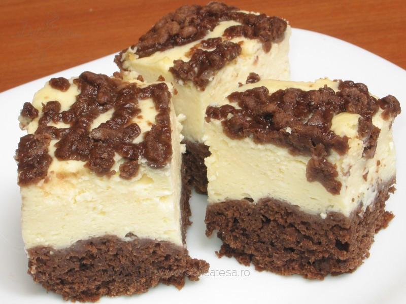 Prăjitură cu brânză dulce