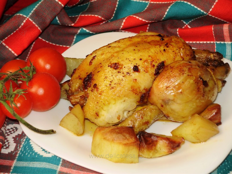 Mini-pui picanţi cu cartofi la cuptor