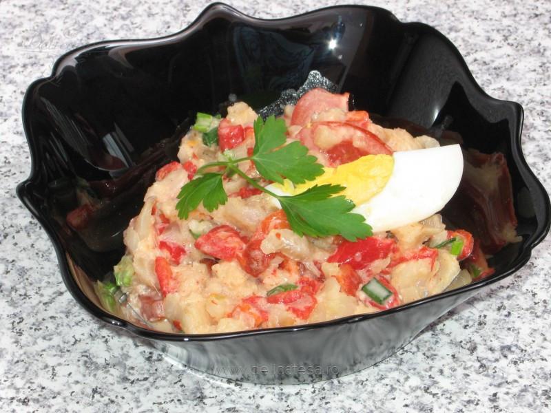 Salată de cod cu legume