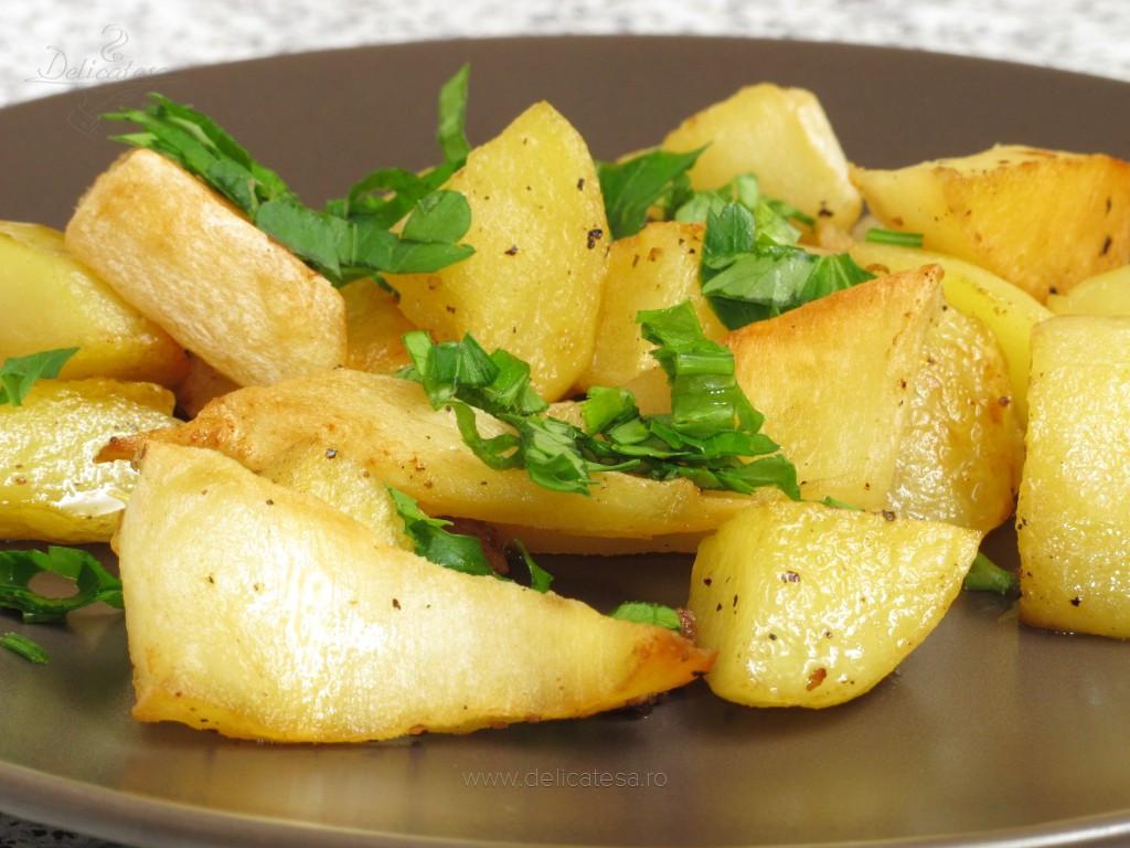 Cartofi cu păstârnac în grăsime de raţă
