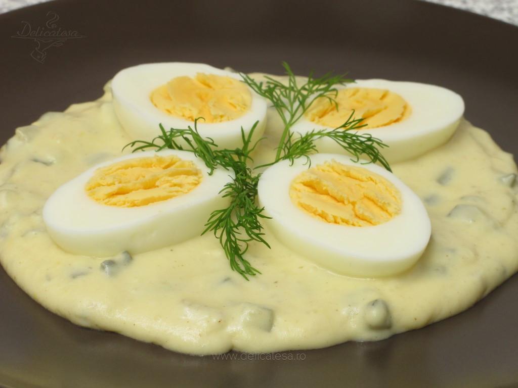 Ouă cu sos de muştar
