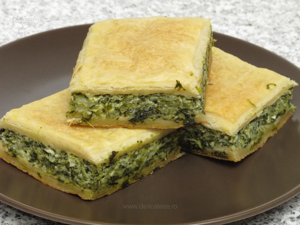 Spanakopita - plăcintă cu spanac si brânză feta