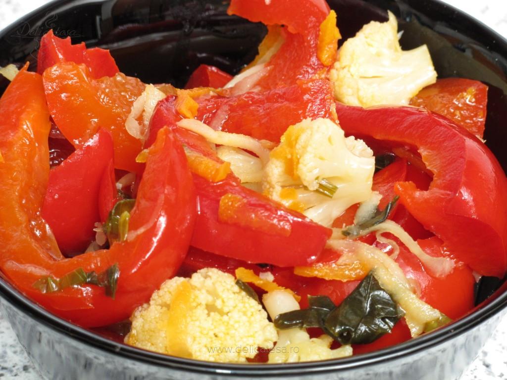Salate pentru iarna cu conopida