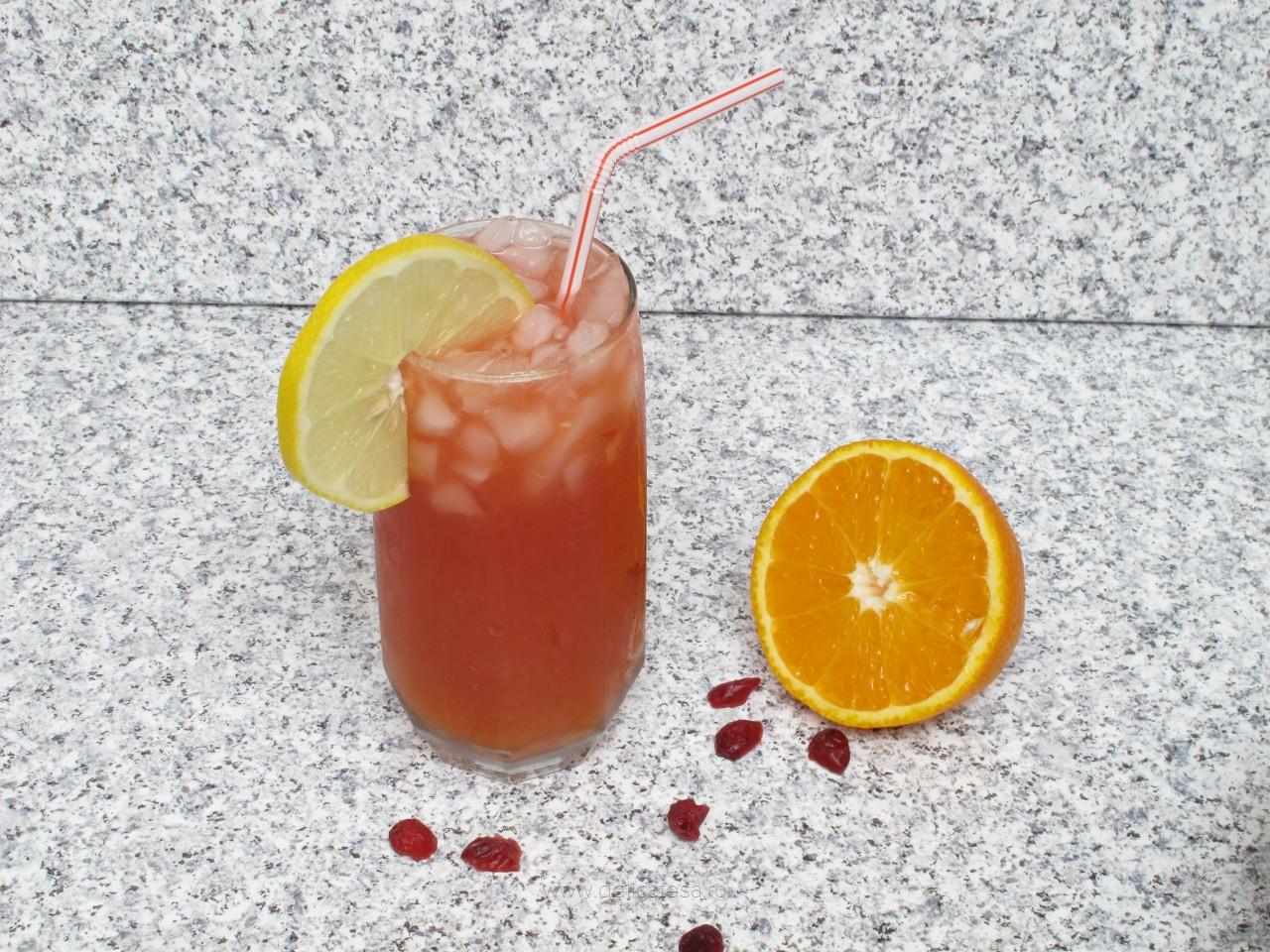Cocktail de merișoare cu portocale