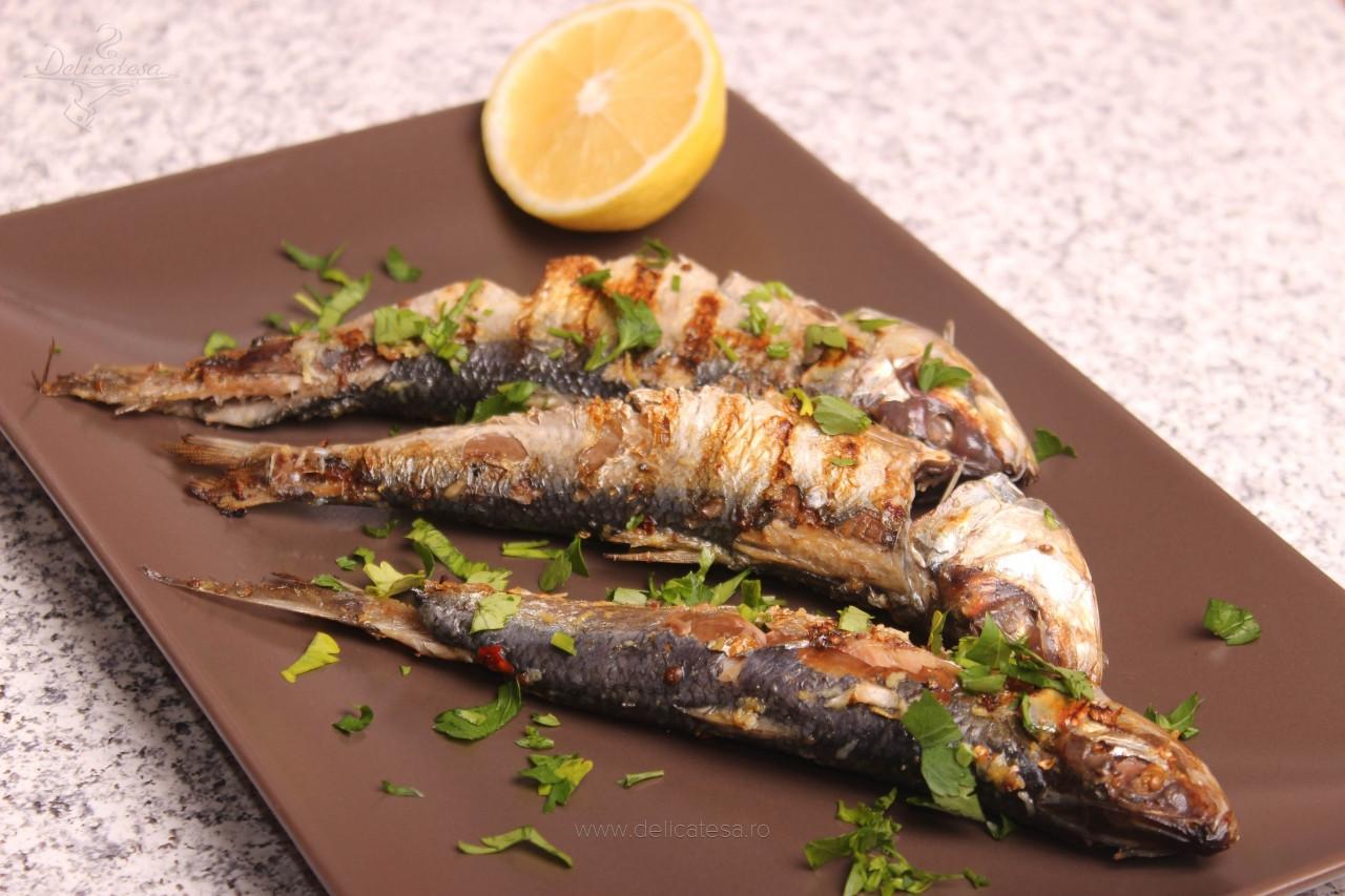 Sardine cu coriandru la grătar
