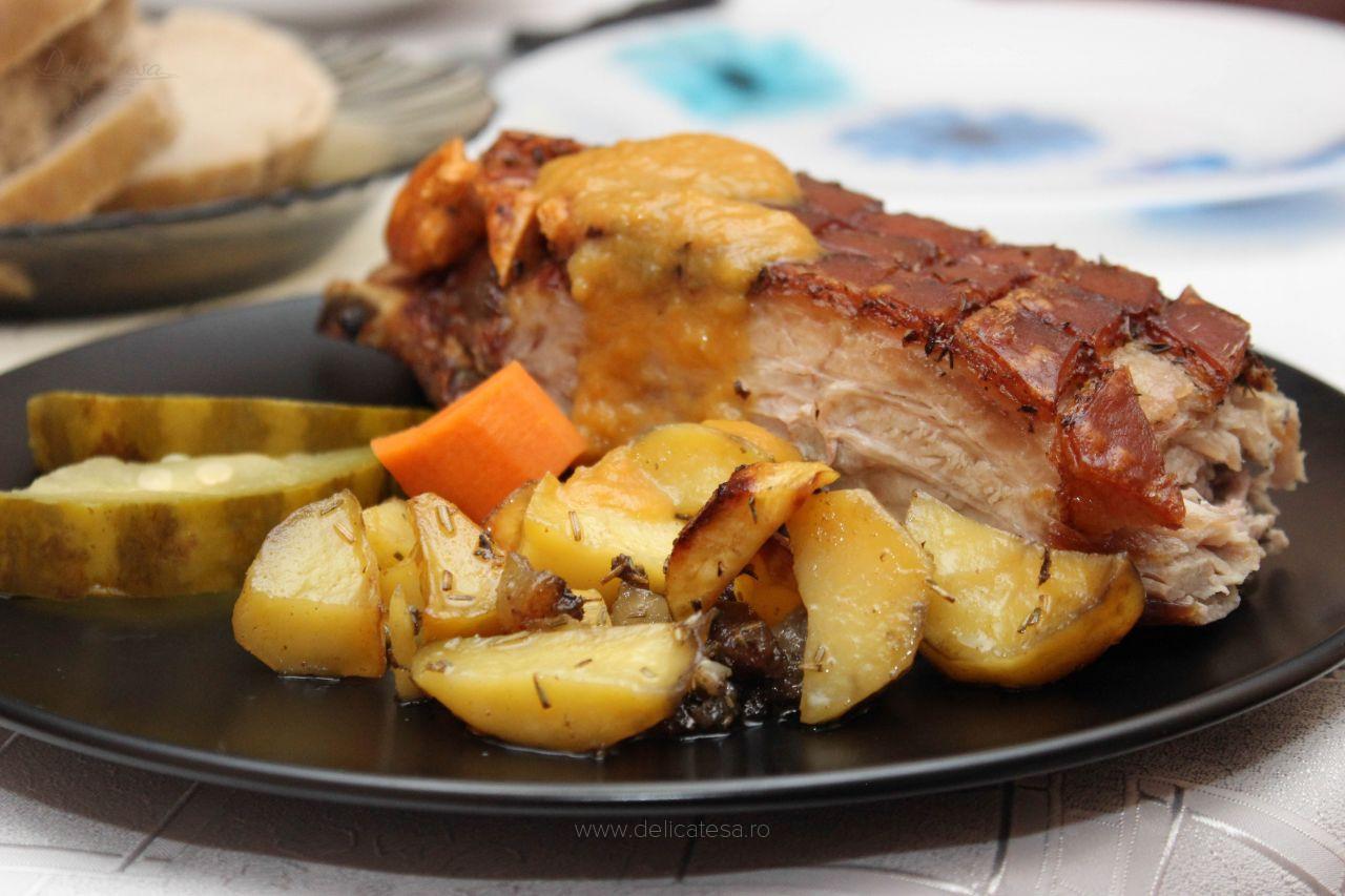 Piept de porc la cuptor