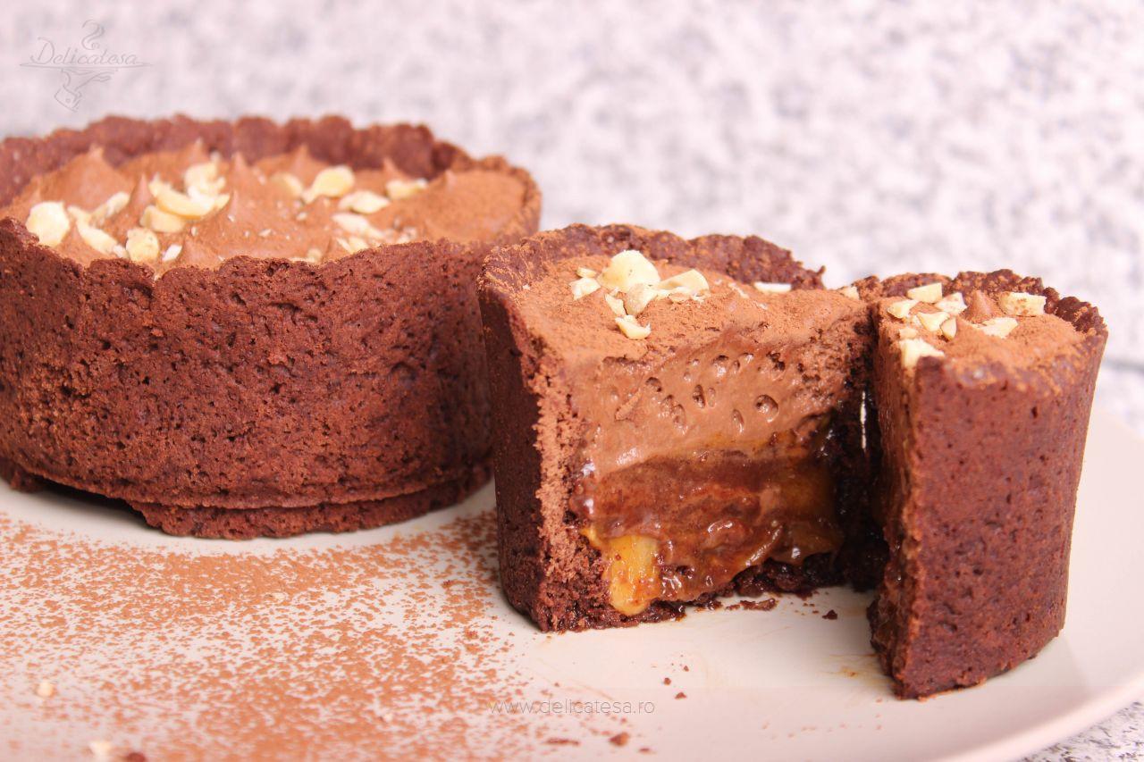 Tarte de ciocolată cu arahide