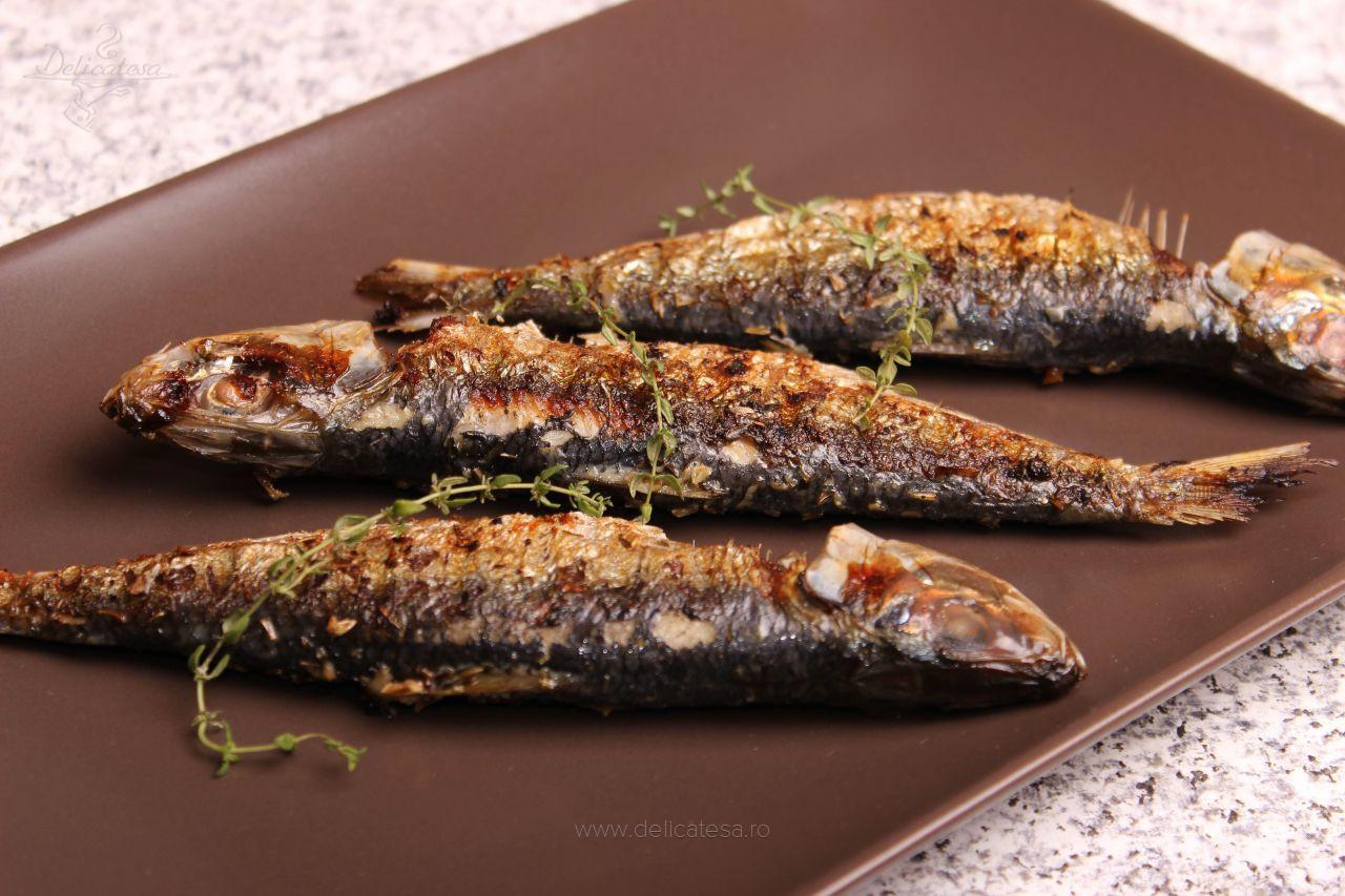 Sardine cu cimbru la grătar