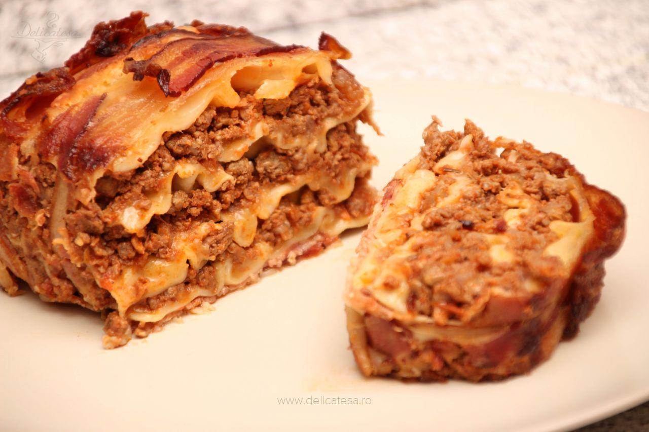 Lasagna în bacon